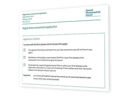 Applying To Sit The Registration Assessment General Pharmaceutical