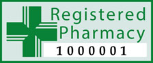 Registered pharmacy logo