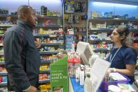 Picture of a customer visiting a pharmacy